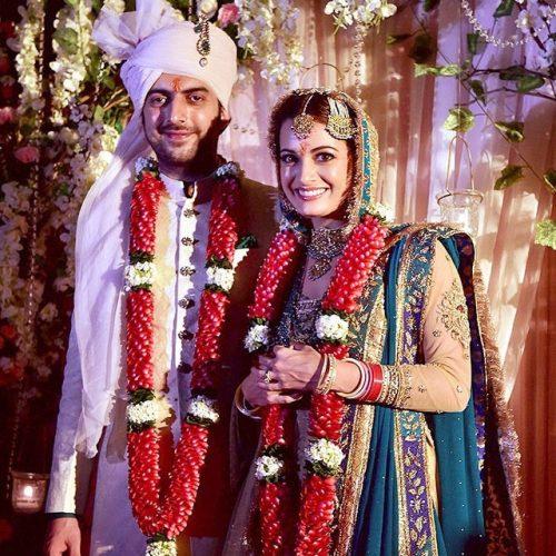 عکس مراسم ازدواج دیا میرزا و همسرش ساحیل