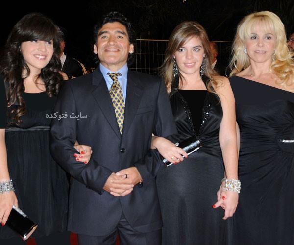بیوگرافی دیگو مارادونا و همسرش با عکس و ناگفته های جدید