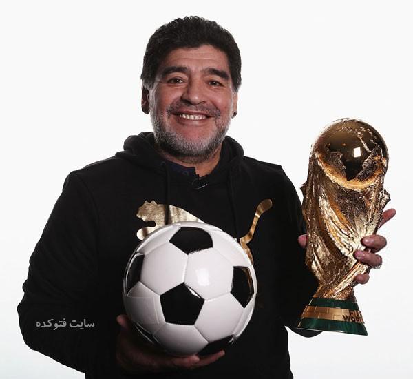 عکس و بیوگرافی دیگو مارادونا Diego Maradona بازیکن فوتبال