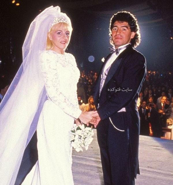 عکس دیگو مارادونا و همسرش با داستان ازدواج