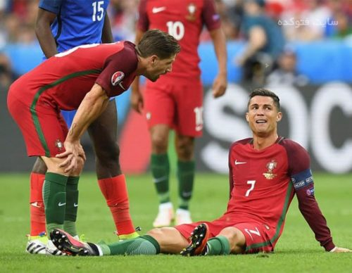 عکس گریه های رونالدو در فینال یورو 2016