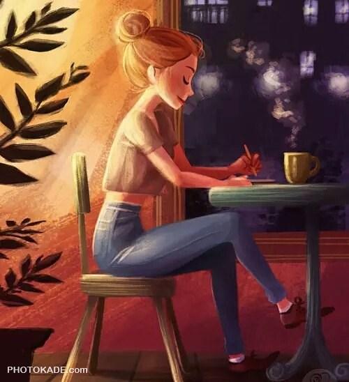 عکس فانتزی دخترانه برای پروفایل + متن غمگین عاشقانه