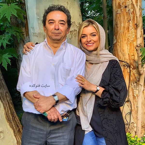 عکس دنیا مدنی Donya Madani و پدر واقعی اش