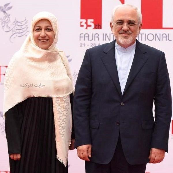 جواد ظریف و همسرش مریم ایمانیه + بیوگرافی کامل