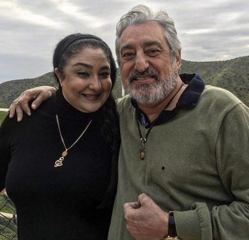 عکس ابی (ابراهیم حامدی) و همسرش مهشید برومند + بیوگرافی کامل