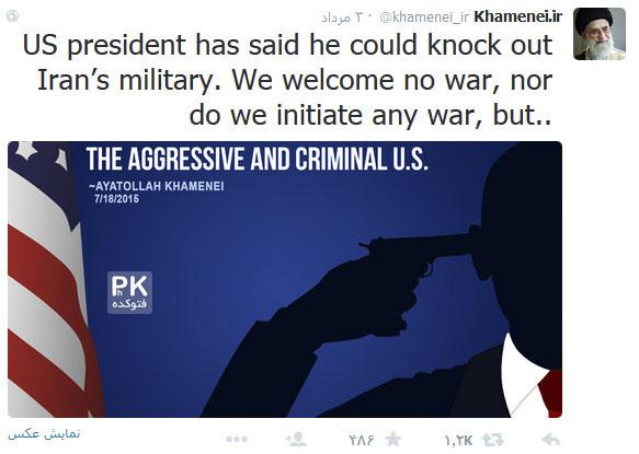 خودکشی اوباما در توییتر رهبری,رهبری اوباما را کشت,ترور اوباما در توییتر رهبر علی خامنه ای,توئیت جدید رهبر در مورد اوباما,اعدام اوباما در توییتر رهبری,آمریکا