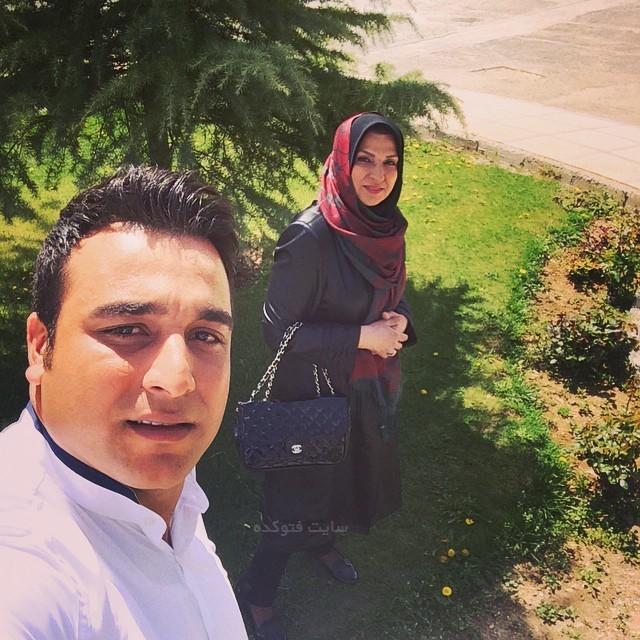عکس احسان حدادی و مادرش + بیوگرافی