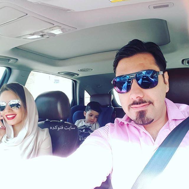 عکس احسان خواجه امیری و همسرش لیلا ربانی + پسرش آرشان