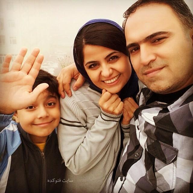 الهه زحمتی و همسرش توحید معصومی و پسرش با بیوگرافی