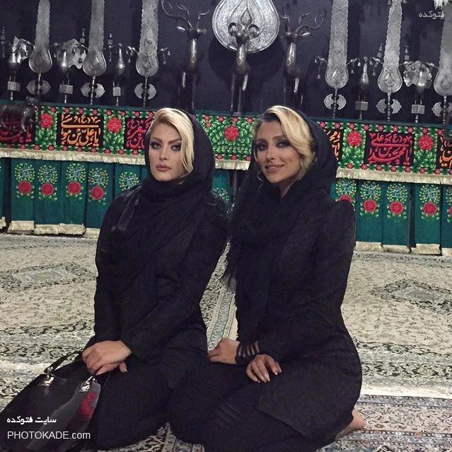 جنجال الهام عرب در هیئت عزاداری حسینی با عکس,عکس جنجالی الهام عرب در مسجد,عکس الهام عرب در هیئت عزاداران حسینی,عکس جدید و جنجالی پوزر عروس الهام عرب,زن مدل