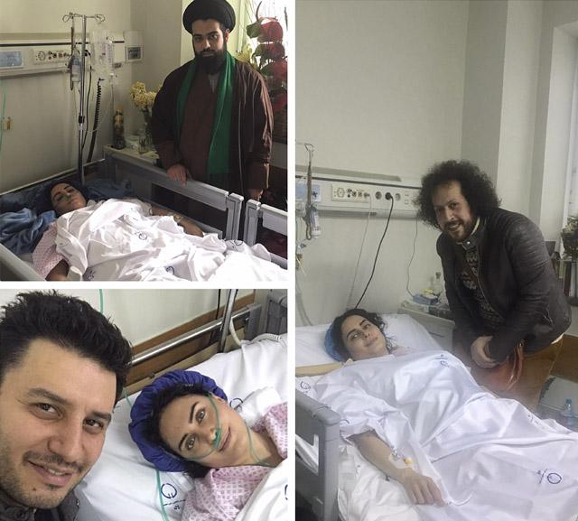 عکس عیادت بازیگران از الناز شاکردوست در بیمارستان