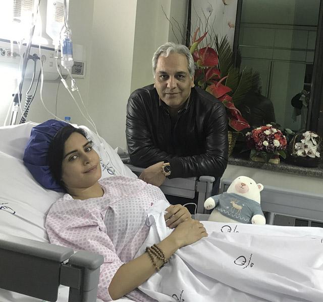 عکس عیادت مهران مدیری از الناز شاکردوست در بیمارستان