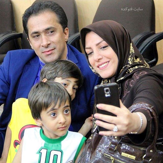 عکس خانوادگی داوود عابدی و همسرش المیرا شریفی مقدم
