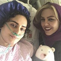 عکس های عیادت بازیگران از الناز شاکردوست در بیمارستان