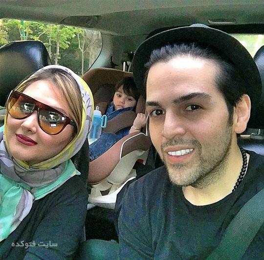 عکس خانوادگی عماد طالب زاده + همسر و پسرش