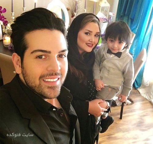 عماد طالب زاده و همسرش آتوسا یوسفی + پسرش ساتیار