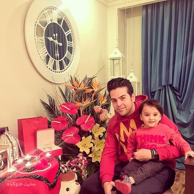 عکس عماد طالب زاده و پسرش ساتیار