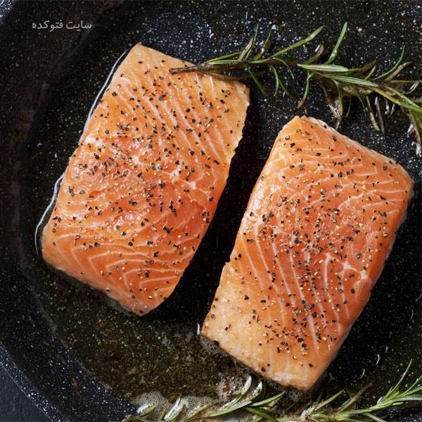 ماهی سالمون برای رفع خستگی چه بخوریم