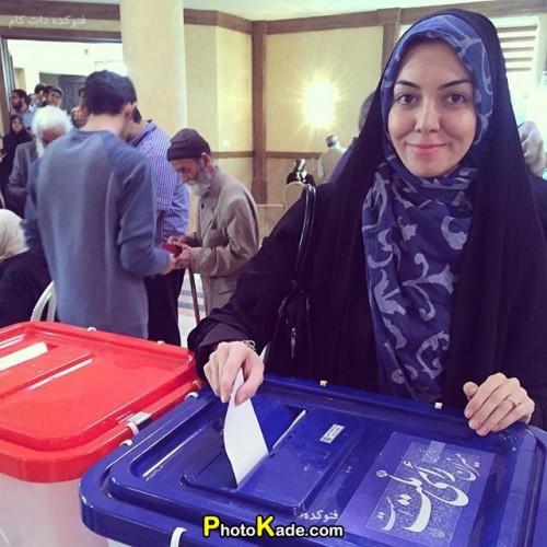 عکس رای دادن بازیگران در انتخابات