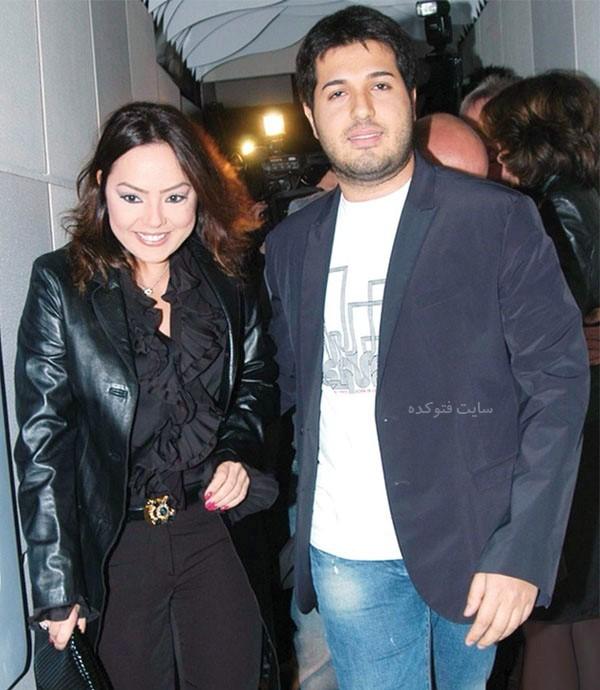 عکس و بیوگرافی ابرو گوندش و همسرش رضا ضراب