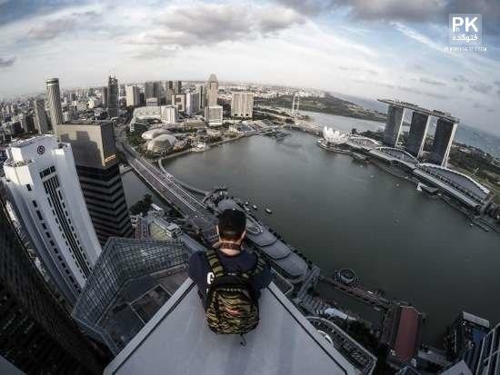 عکس های هیجان و ترس در ارتفاع,عکس هایی که باعث بالا رفتن ادرنالین می شوید,عکس های جالب در ارتفاع,سلفی خطرناک در ارتفاع,عکس های جالب و هیجانی,ارتفاع و ترس