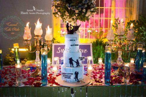 عکس کیک عروسی بهاره رهنما و امیر خسرو عباسی