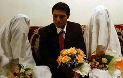 ازدواج پسر 16 ساله با دو دختر همزمان,ازدواج همزمان با دو دختر در ایران,عکس داماد با دو عروس هزمان,اتفاقی عجیب در ایران,دو دختر عروس همزمان یک داماد ایرانی
