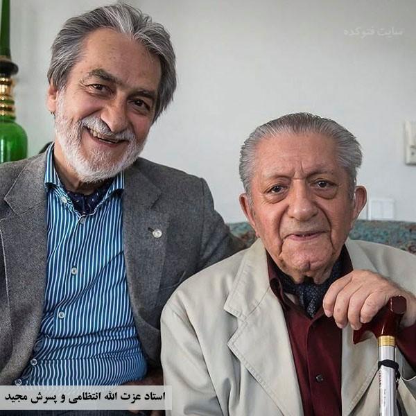 عکسعزت الله انتظامی و پسرش مجید انتظامی
