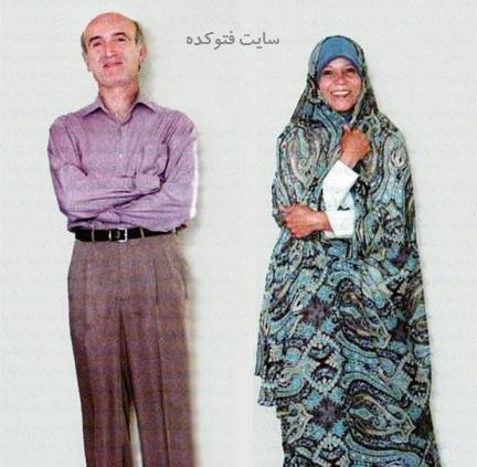 فائزه هاشمی رفسنجانی و همسرش حمید لاهوتی