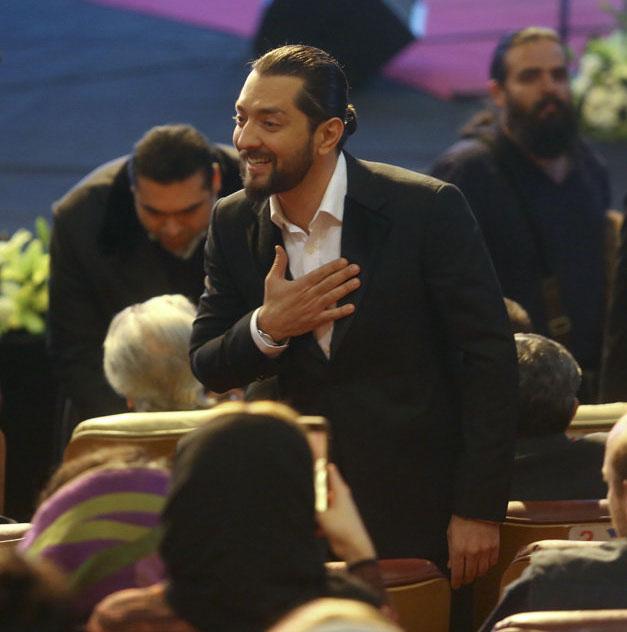 عکس بهرام رادان در افتتاحیه جشنواره فجر 96