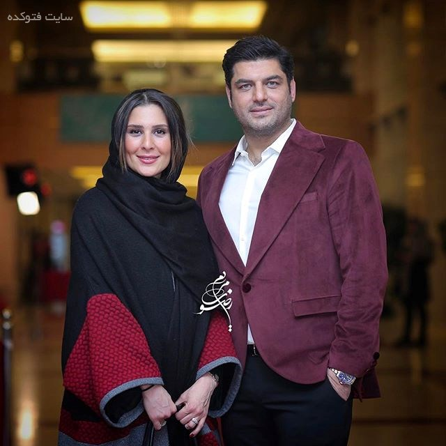 عکس سام درخشانی و همسرش عسل امیرپور در جشنواره فجر 95