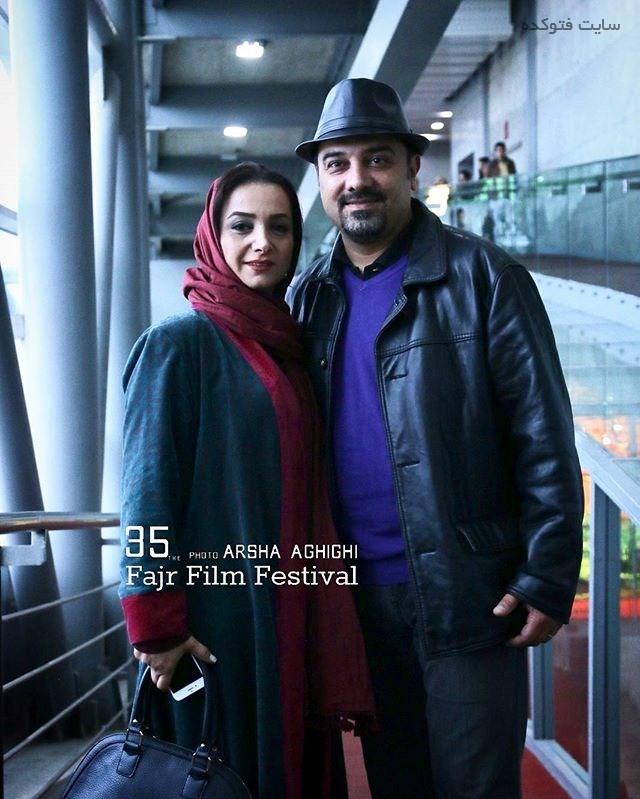 عکس برزو ارجمند و همسرش پارمیس زند در جشنواره فجر 95