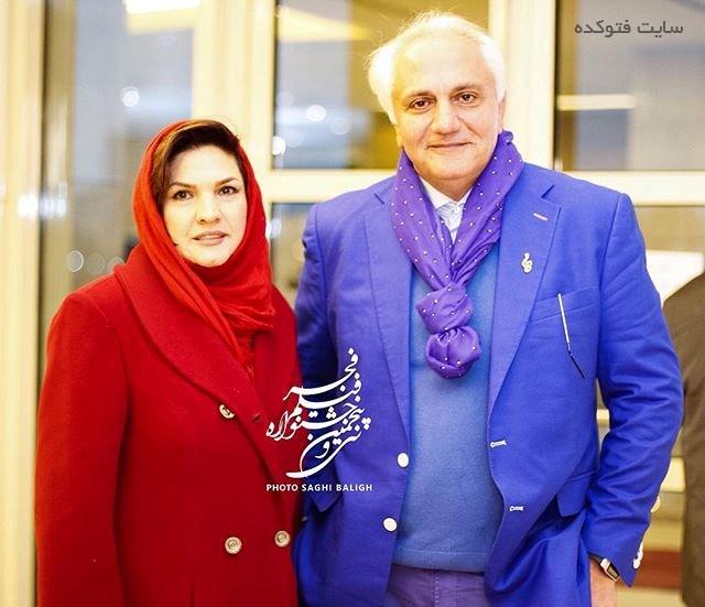عکس علی معلم و همسرش آذر معماریان در جشنواره فجر 95