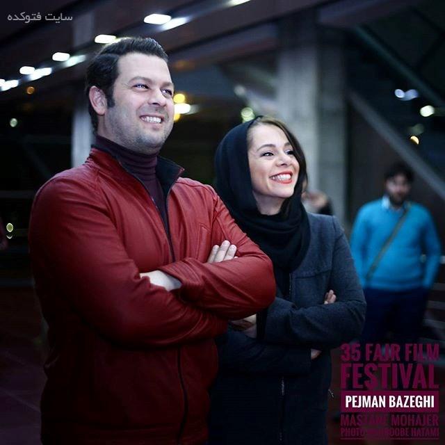 عکس پژمان بازغی و همسرش مستانه مهاجر در جشنواره فجر 95