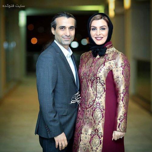 عکس ماه چهره خلیلی و همسرش ابراهیم اشرفی در جشنواره فجر 95