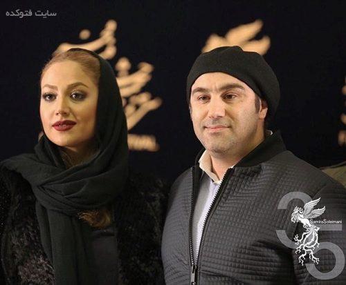 عکس محسن تنابنده و همسرش روشنک گلپا در جشنواره فجر 95