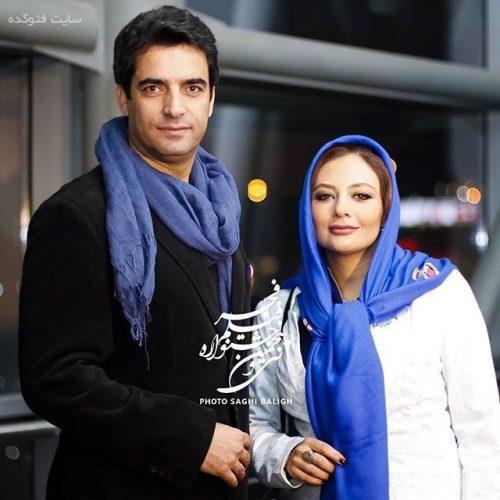 عکس یکتا ناصر و همسرش منوچهر هادی جشنواره فجر 95