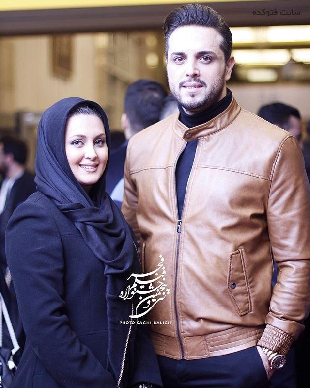 عکس پدرام کریمی و همسرش در جشنواره فجر 95