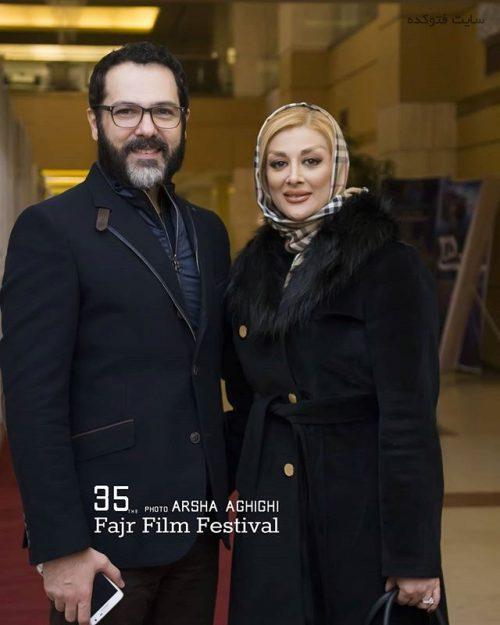 عکس کوروش تهامی و همسرش پونه یزدانی در جشنواره فجر 95