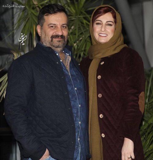 عکس شقایق دهقان و همسرش مهراب قاسم خانی در جشنواره فجر 95