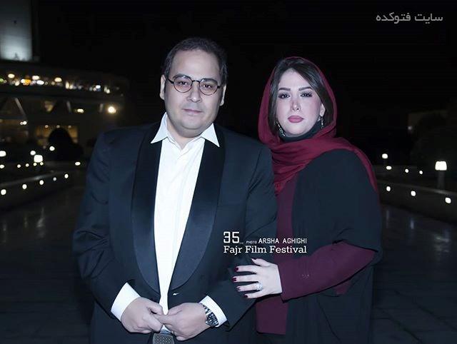 عکس رضا داوود نژاد و همسرش غزل بدیعی در جشنواره فجر 95