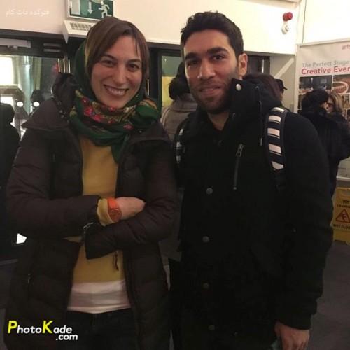 فلامک جنیدی در کنار خواننده استیج حسین کویار