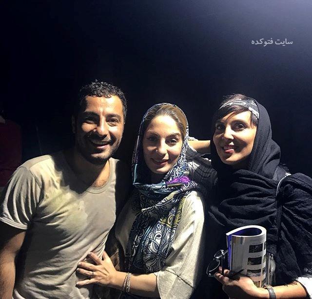 عکس نوید محمدزاده و خواهرش (بیوگرافی)در کنار لیلا بلوکات (بیوگرافی)