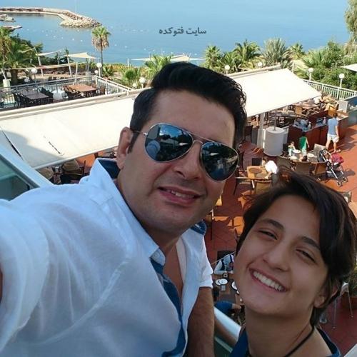 عکس بهنام قربانی و دخترش (بیوگرافی)