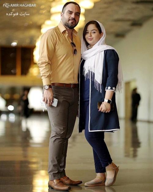 عکس شهرام قائدی و دخترش (بیوگرافی)