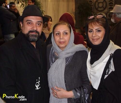 عکس برزو ارجمند همراه خواهرش بهار و مادرش
