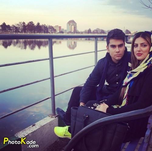 عکس هلیا امامی و برادرش