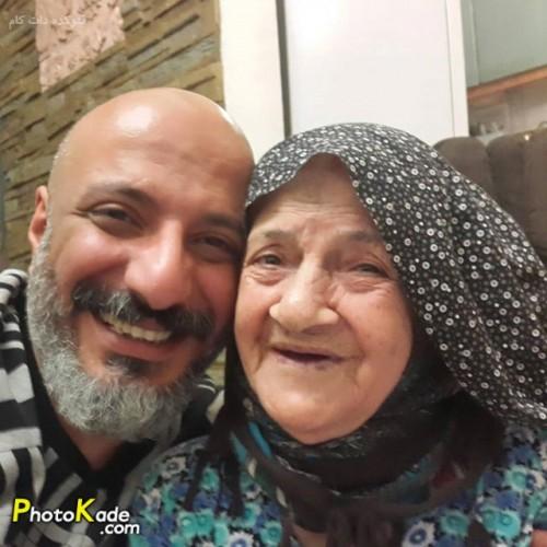 عکس امیر جعفری و مادرش