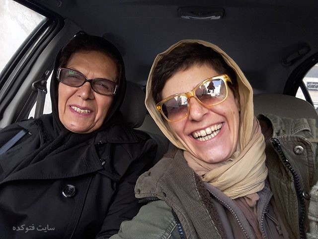 عکس سوسن پرور و مادرش