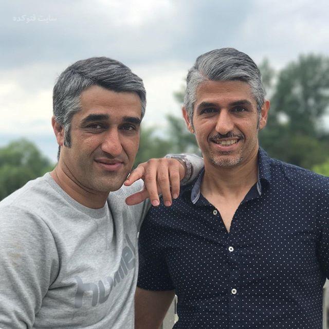 عکس پژمان جمشیدی و برادر دکترش